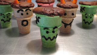 Monster Cupcake Cones