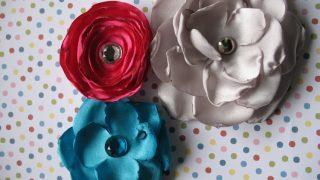 Satin Fabric Flower Tutorial