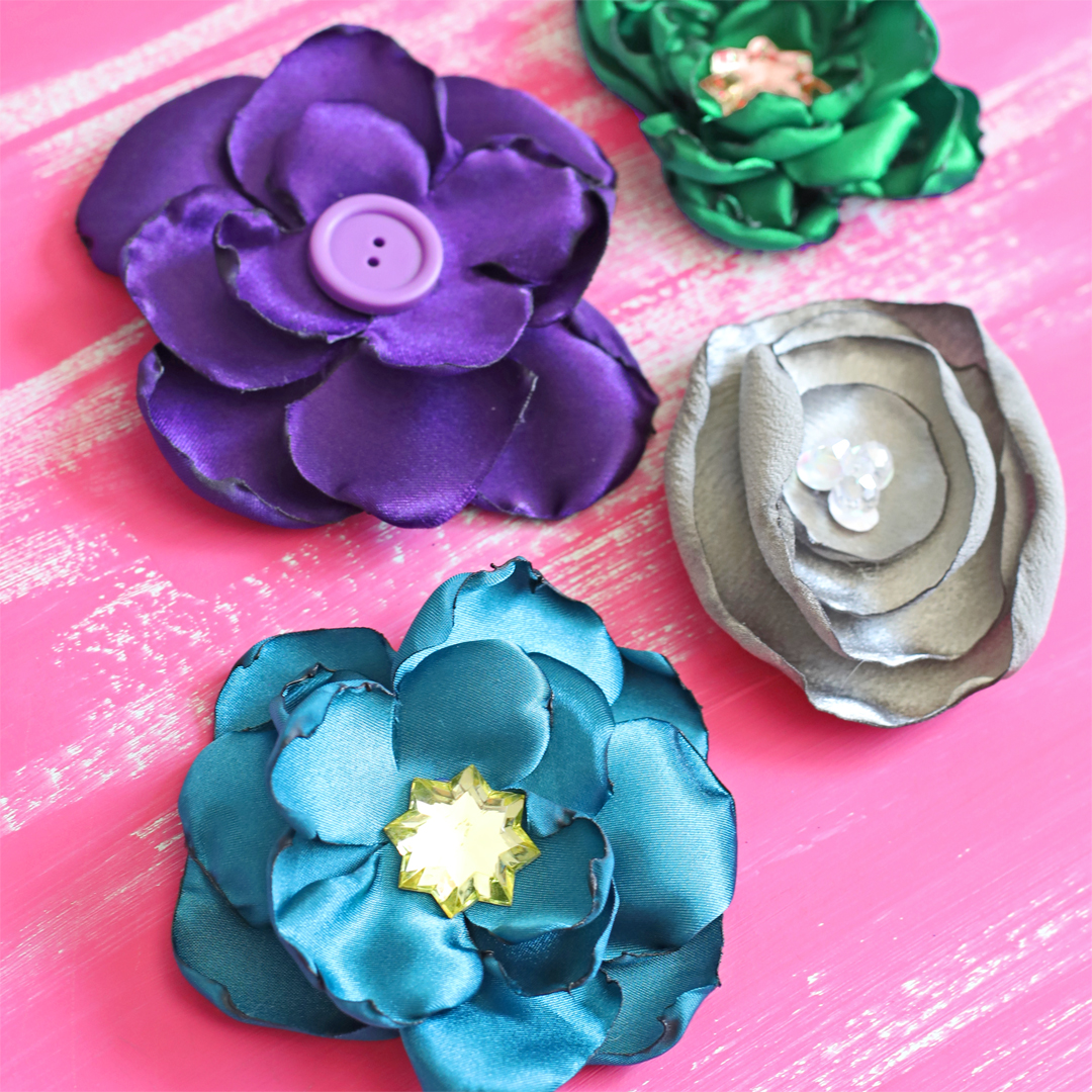 Satin Fabric Flower Tutorial The Craft Patch