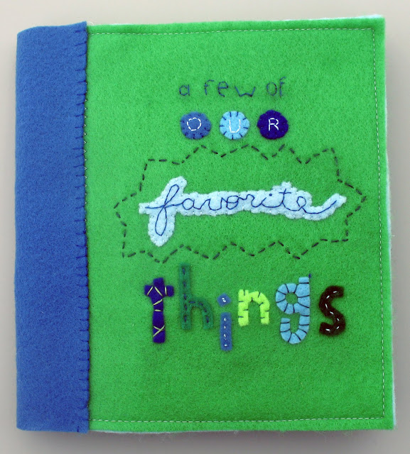 This handmade personalized book is full of this family's favorite things!