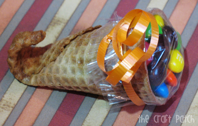DIY Mini ice cream cone cornucopia treats