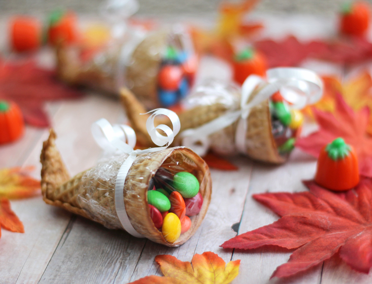 edible cornucopia candy treat