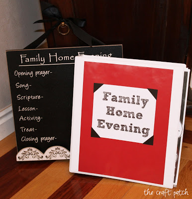 gift idea family home evening chart and lesson binder