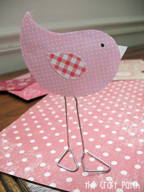 paper clip love bird valentines day craft