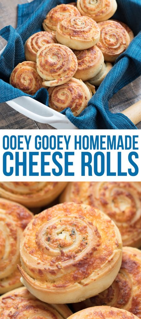 Soft bread dough made from scratch is stuffed with ooey gooey cheese and savory spices to create these delicious homemade cheese rolls. Pair with a bowl of hearty soup and you've got the perfect comfort food meal! The best cheese roll recipe.