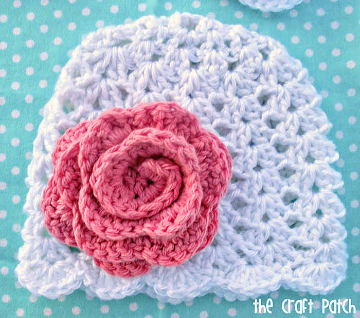 Lacy Crochet Baby Beanie Thecraftpatchblog