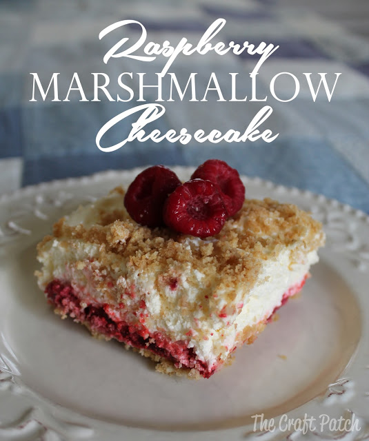 no bake raspberry marshmallow cheesecake