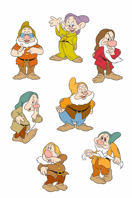 The Seven Dwarfs are a group of seven dwarfs that live in a tiny cottage and work in the nearby mines Snow White happens upon their house after being told by the