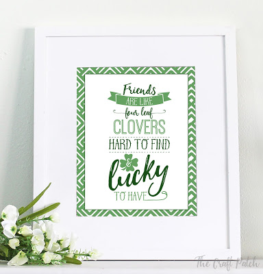 St. Patrick's Day free printable quote