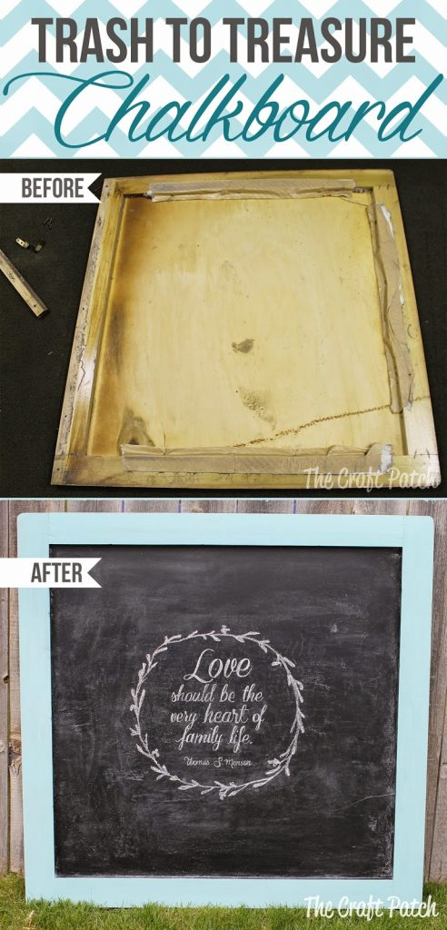 A Trash-To-Treasure Chalkboard! - thecraftpatchblog.com