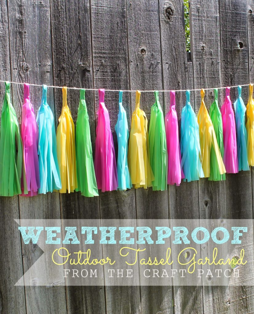 Weatherproof Outdoor Tassel Garland The Craft Patch
