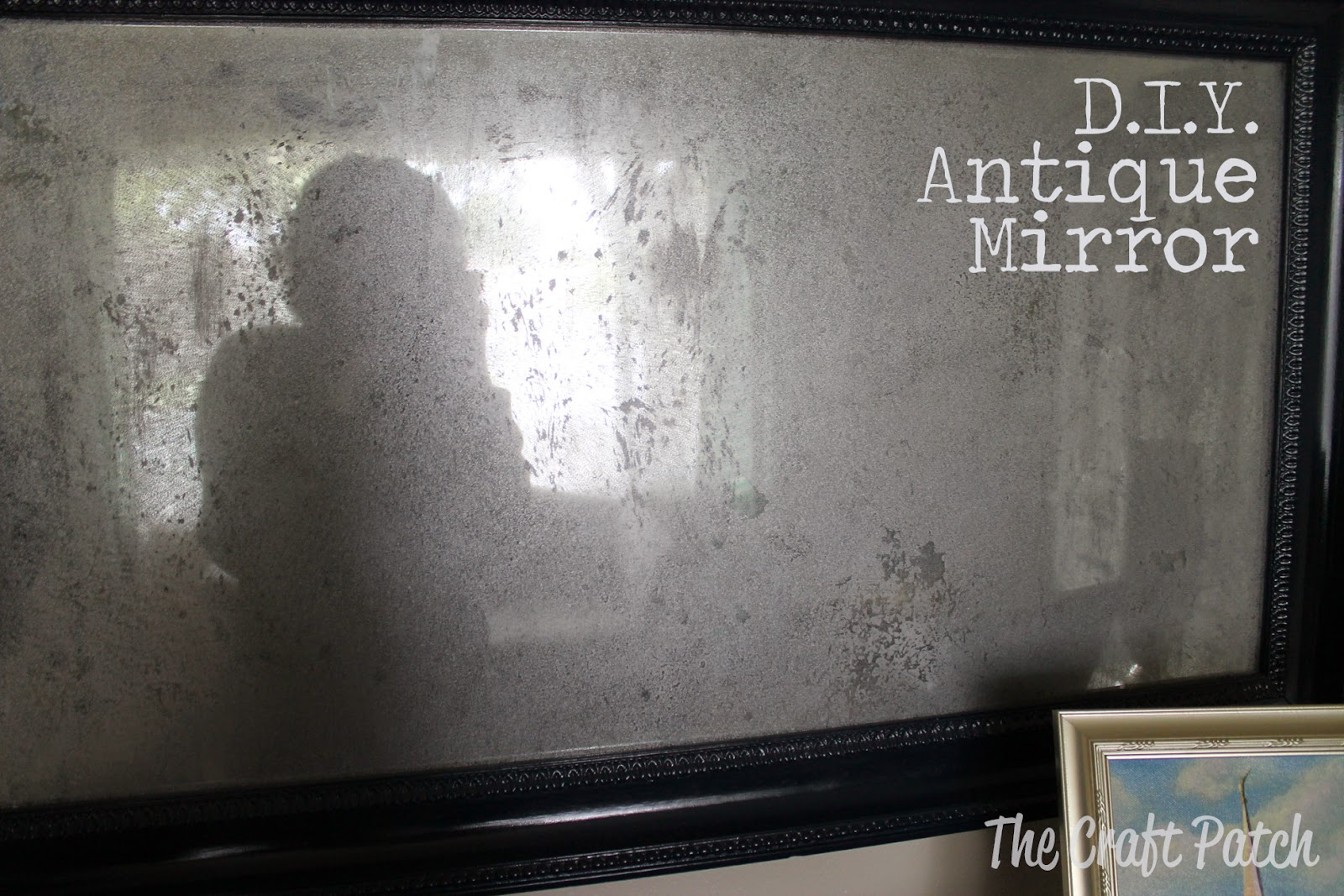 D I Y Antique Mirror Thecraftpatchblog Com