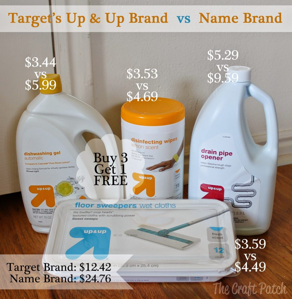 Name Brand Store: Name Brand Vs. Store Brand Cleaning Supplies