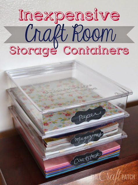 Inexpensive Craft Room Storage Containers