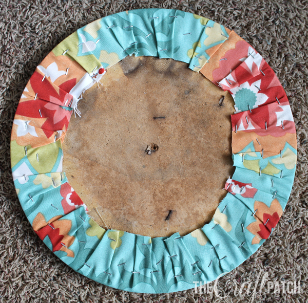 how to reupholster a round chair seat