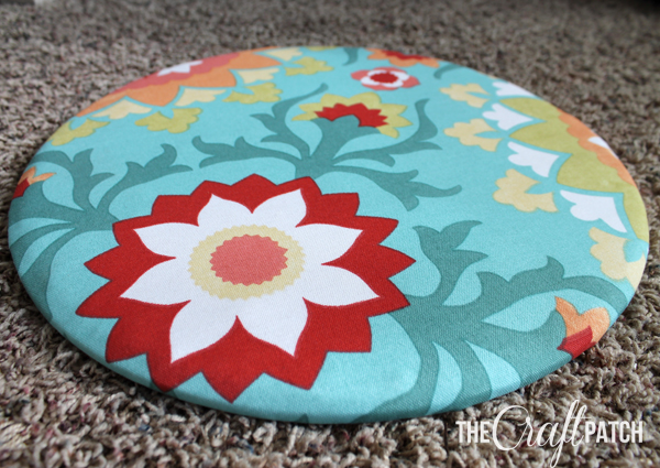How To Reupholster A Round Chair Seat Thecraftpatchblog Com