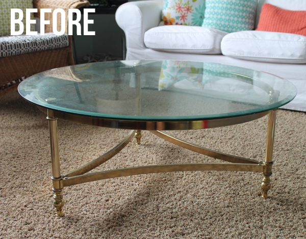 Brass Coffee Table Makeover