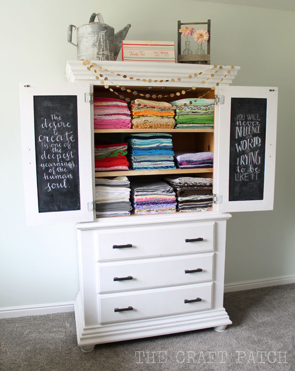 The Glorious Fabric Storage Armoire