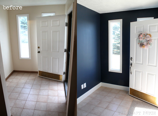 entryway makeover with paint