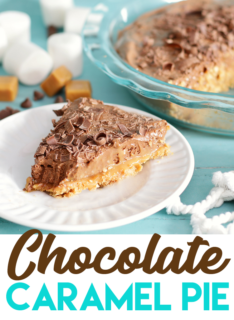 chocolate caramel pie with marshmallow mousse