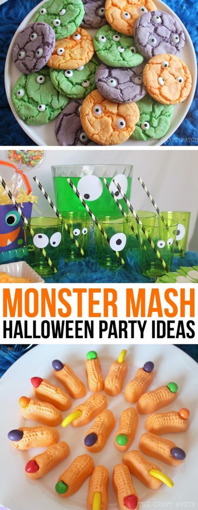 Halloween Theme Party Ideas For Kids.Easy Monster Cookies