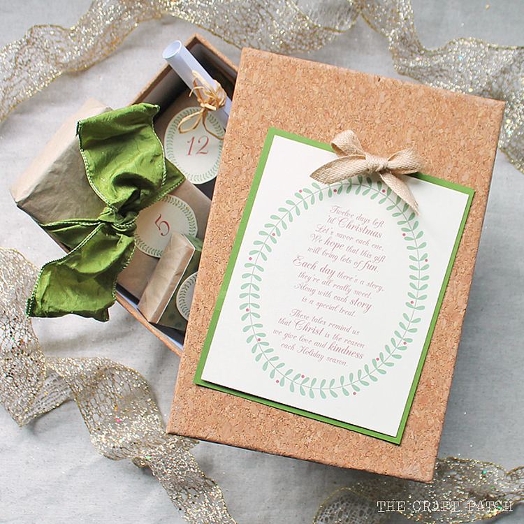 free printable twelve days of christmas stories and treats activity
