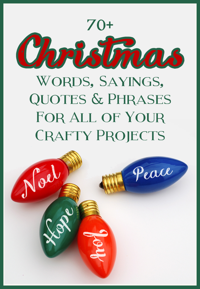 Cute Short Christmas Sayings.Mega List Of Christmas Words Sayings Quotes And Phrases