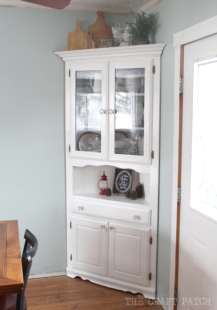 dining room corner cabinets furniture | Corner Hutch Furniture Makeover - thecraftpatchblog.com