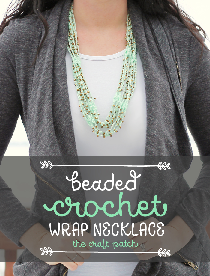 Beaded Crochet Wrap Neckace Pattern And Tutorial Thecraftpatchblog