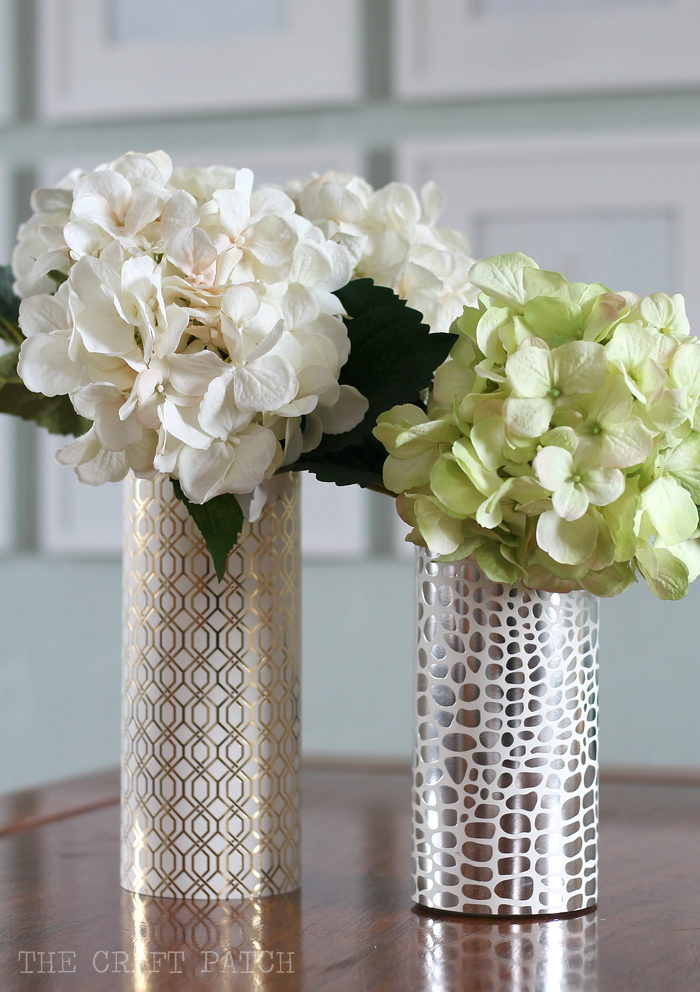 Diy Geometric Metallic Vase Thecraftpatchblog