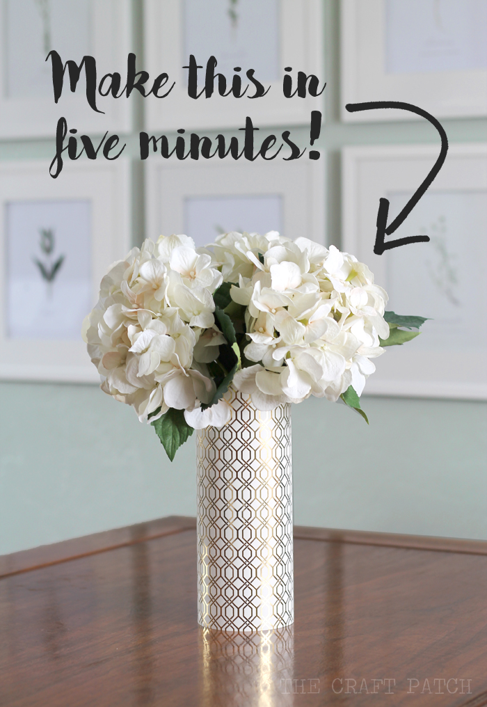 Metallic Geometric Vase