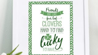 """Friends Are Like Four Leaf Clovers"""