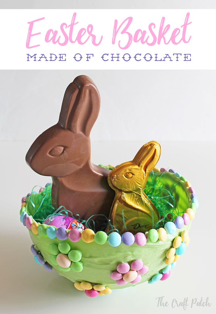 How to make an edible Easter basket from candy and chocolate