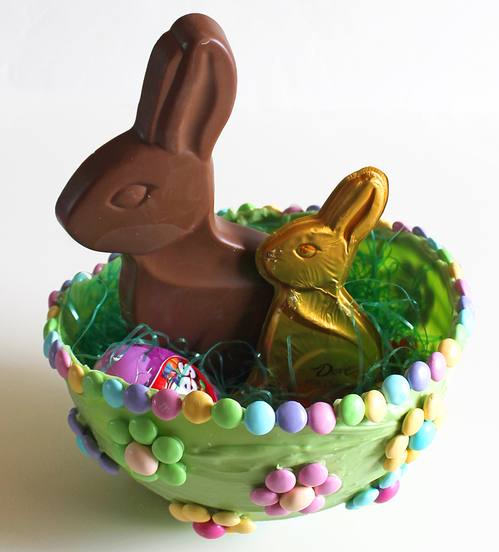 How To Make An Easter Basket Out of Chocolate