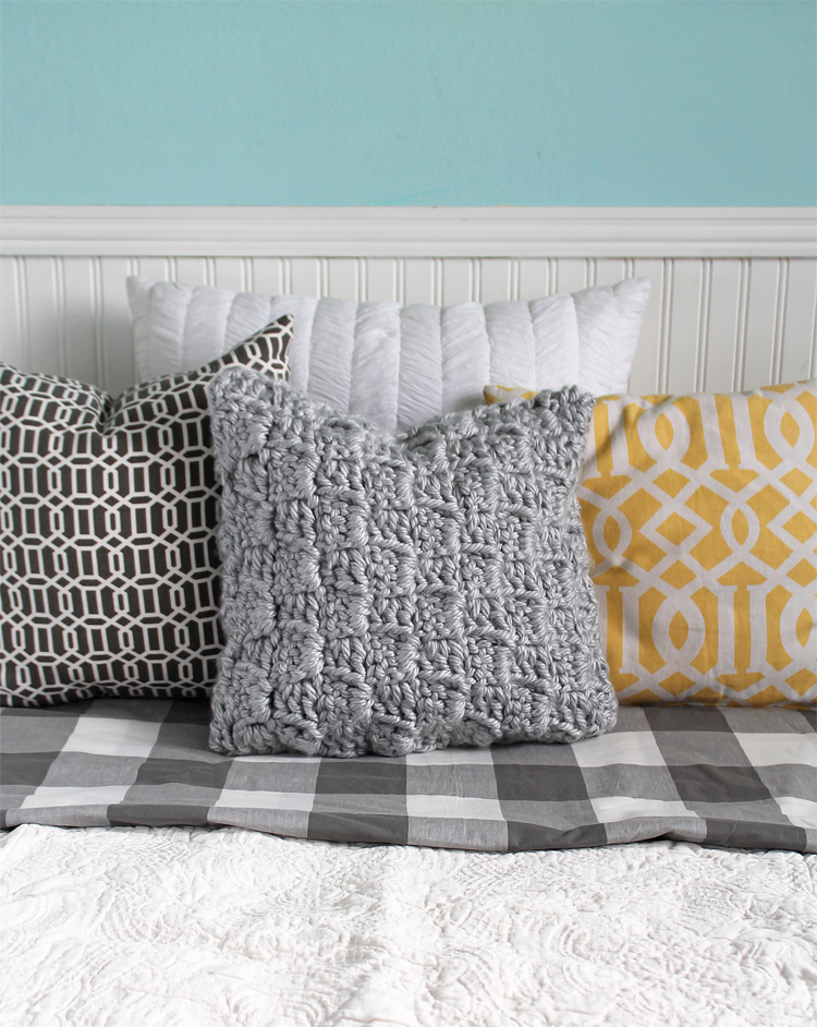 Free Crochet Pattern Chunky Stairstep Throw Pillow