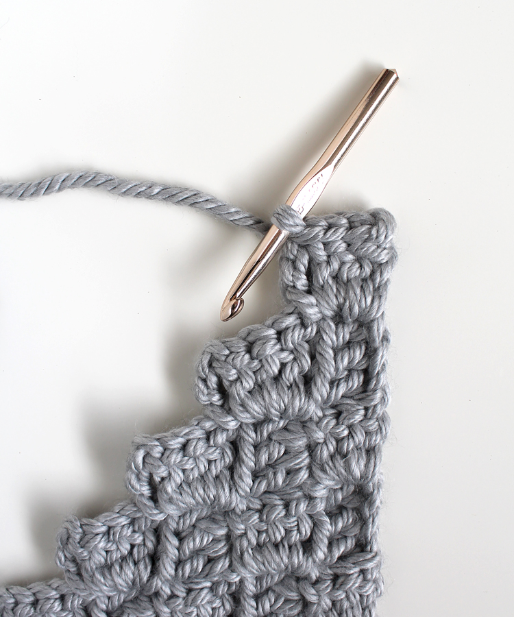 diagonal crochet stitch tutorial