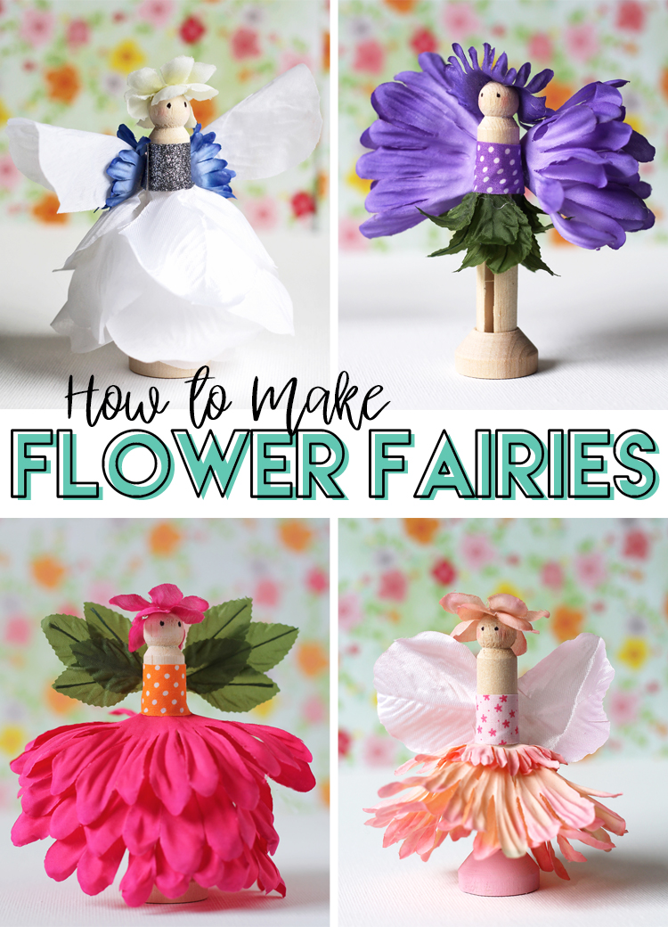 flower fairy craft for kids