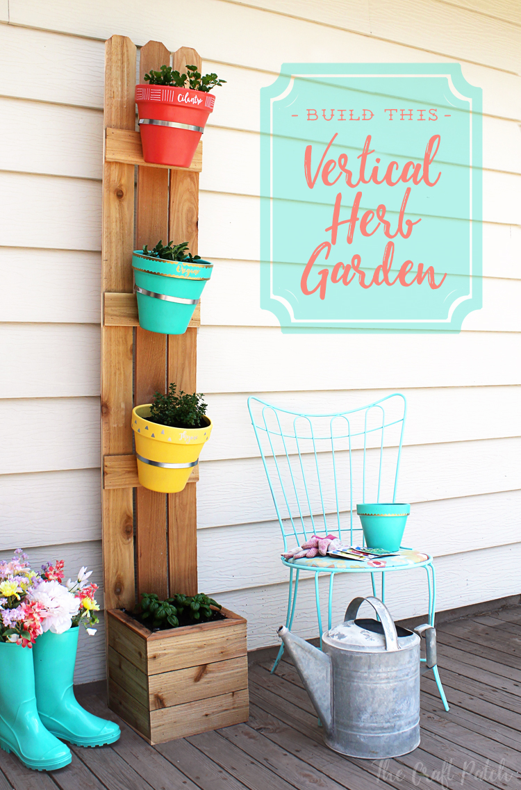 Diy Vertical Planter With Fence Slats And Terra Cotta Pots