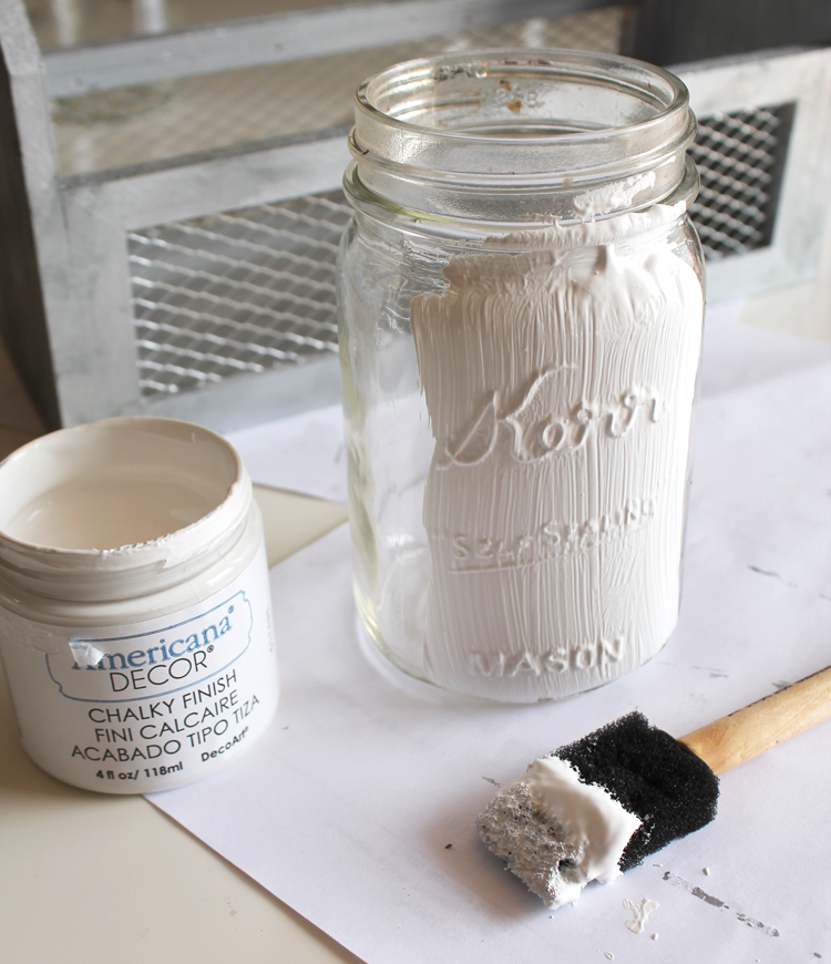 Diy Farmhouse Style Mason Jar Planter The Craft Patch
