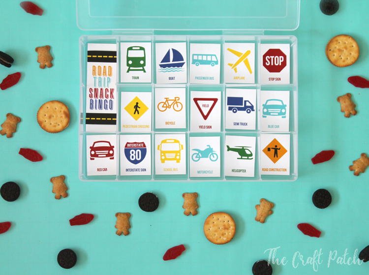 Road Trip Snack Bingo Activity For Traveling With Kids