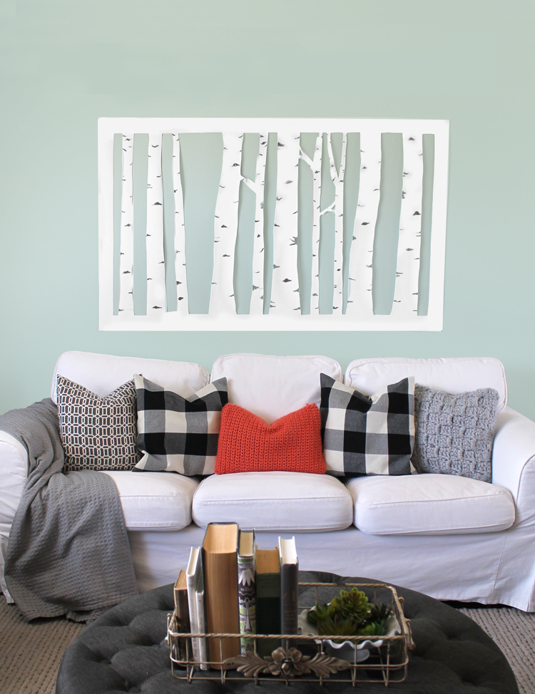 & Large Scale Wall Art on a Budget - thecraftpatchblog.com