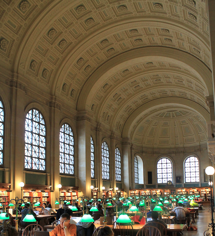 Boston Public Library Study Desks