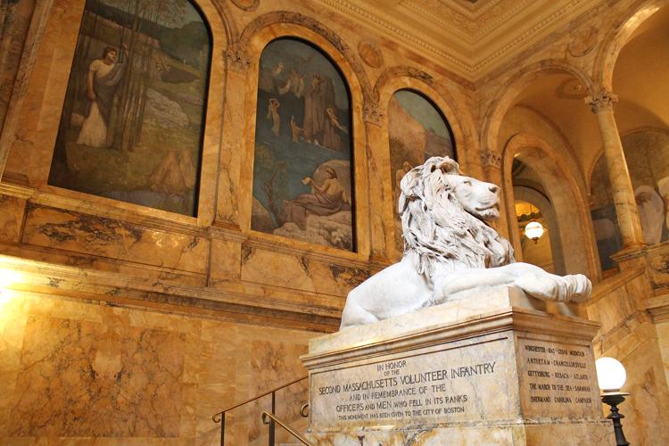 Boston Public LIbrary Lion Statue