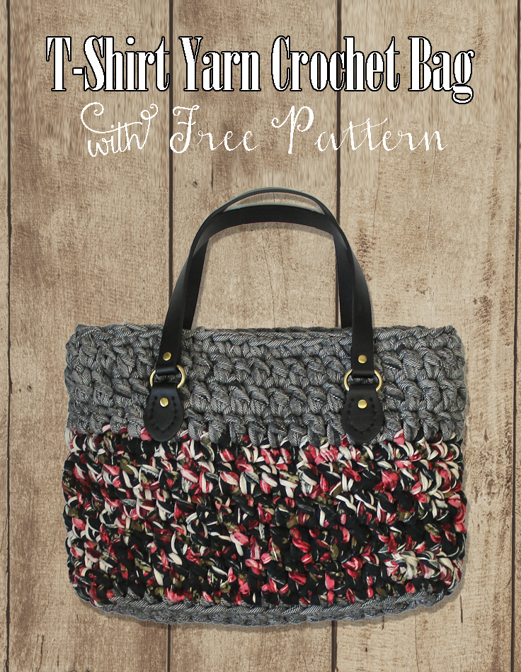 T Shirt Yarn Crochet Bag Free Pattern Thecraftpatchblog