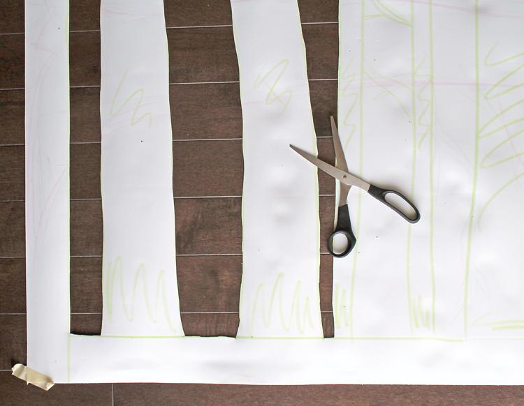 Large, Inexpensive DIY Aspen Tree Wall Art - thecraftpatchblog.com