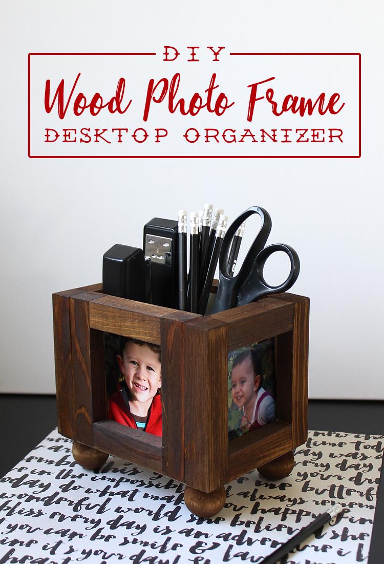 Diy Wood Picture Frame Desktop Organizer Thecraftpatchblogcom