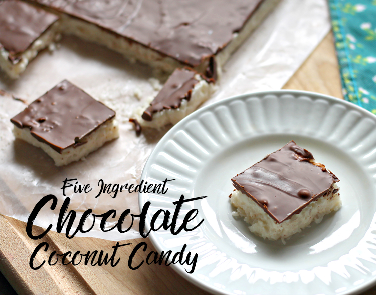 No bake five ingredient candy made with mashed potatoes