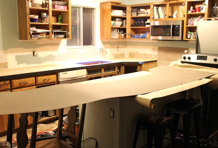Cover Countertop With Dowels This Step Is Crucial Remember How I Warned You That Have Exactly One Chance Contact Cement