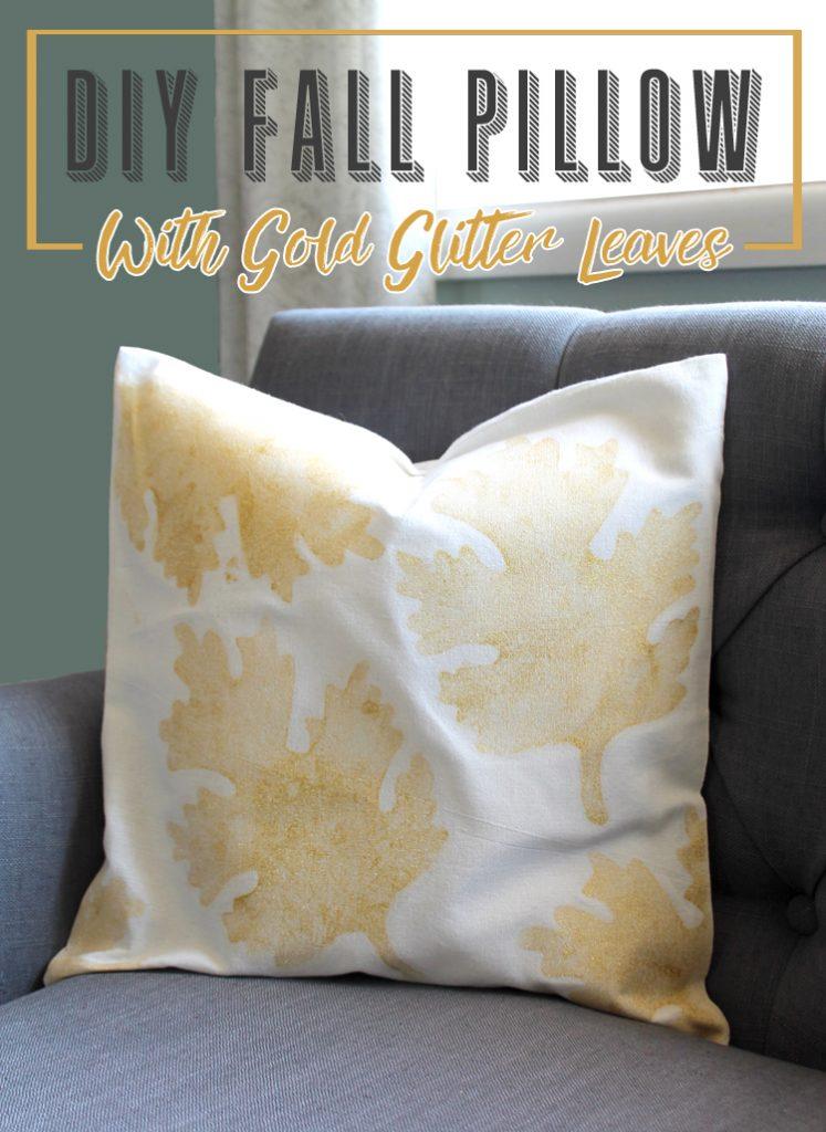 fall leaves diy throw pillow - thecraftpatchblog Diy Fall Throw Pillows