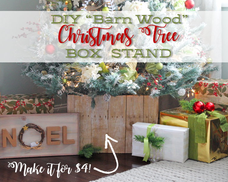 Diy faux barn wood christmas tree stand thecraftpatch